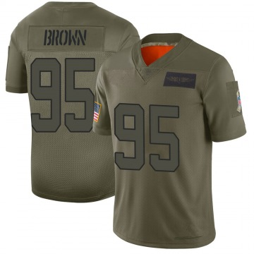 Youth Nike Carolina Panthers Derrick Brown Brown Camo 2019 Salute to Service Jersey - Limited