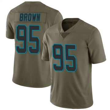 Youth Nike Carolina Panthers Derrick Brown Green 2017 Salute to Service Jersey - Limited