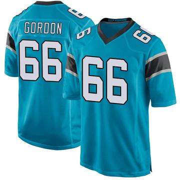 Youth Nike Carolina Panthers Dillon Gordon Blue Alternate Jersey - Game
