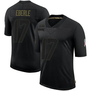 Youth Nike Carolina Panthers Dominik Eberle Black 2020 Salute To Service Jersey - Limited