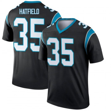 Youth Nike Carolina Panthers Dominique Hatfield Black Jersey - Legend