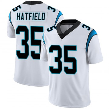 Youth Nike Carolina Panthers Dominique Hatfield White Vapor Untouchable Jersey - Limited