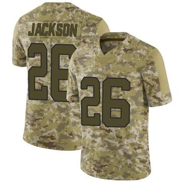 Youth Nike Carolina Panthers Donte Jackson Camo 2018 Salute to Service Jersey - Limited