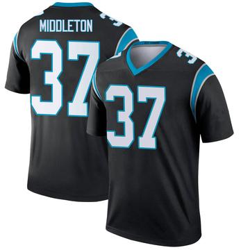 Youth Nike Carolina Panthers Doug Middleton Black Jersey - Legend