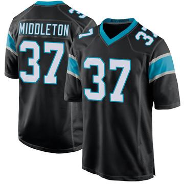 Youth Nike Carolina Panthers Doug Middleton Black Team Color Jersey - Game