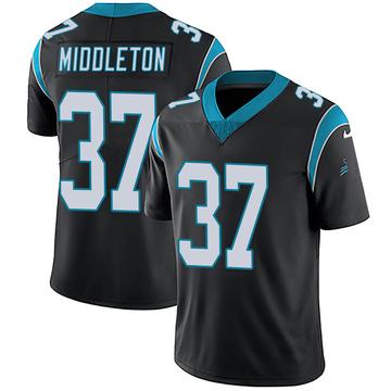 Youth Nike Carolina Panthers Doug Middleton Black Team Color Vapor Untouchable Jersey - Limited