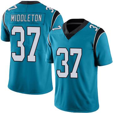 Youth Nike Carolina Panthers Doug Middleton Blue Alternate Vapor Untouchable Jersey - Limited