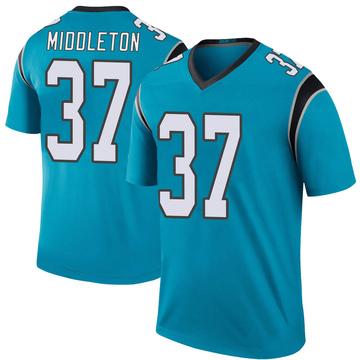 Youth Nike Carolina Panthers Doug Middleton Blue Color Rush Jersey - Legend
