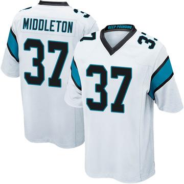 Youth Nike Carolina Panthers Doug Middleton White Jersey - Game