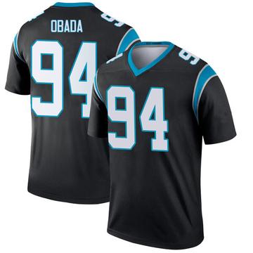 Youth Nike Carolina Panthers Efe Obada Black Jersey - Legend