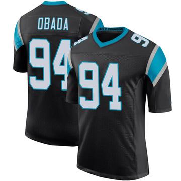 Youth Nike Carolina Panthers Efe Obada Black Team Color 100th Vapor Untouchable Jersey - Limited