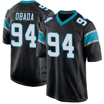Youth Nike Carolina Panthers Efe Obada Black Team Color Jersey - Game