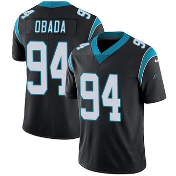 Youth Nike Carolina Panthers Efe Obada Black Team Color Vapor Untouchable Jersey - Limited