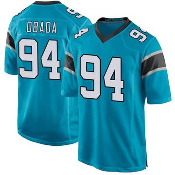 Youth Nike Carolina Panthers Efe Obada Blue Alternate Jersey - Game
