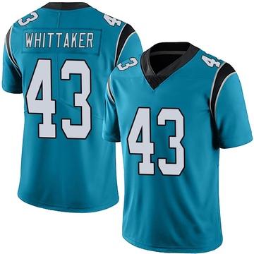 Youth Nike Carolina Panthers Fozzy Whittaker Blue Alternate Vapor Untouchable Jersey - Limited