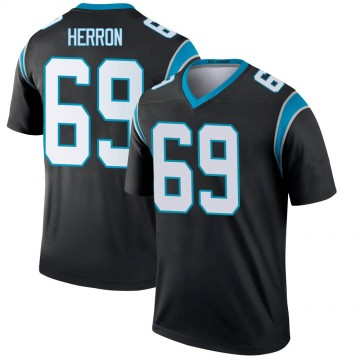 Youth Nike Carolina Panthers Frank Herron Black Jersey - Legend