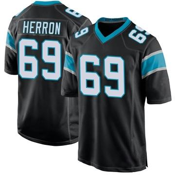 Youth Nike Carolina Panthers Frank Herron Black Team Color Jersey - Game
