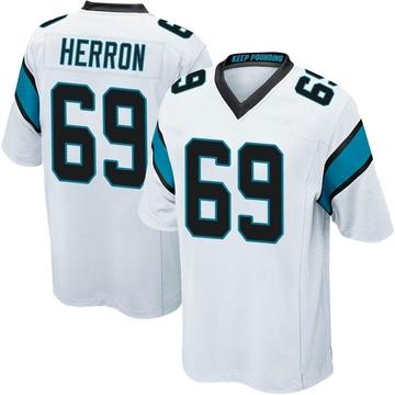 Youth Nike Carolina Panthers Frank Herron White Jersey - Game