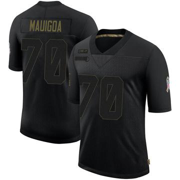 Youth Nike Carolina Panthers Frederick Mauigoa Black 2020 Salute To Service Jersey - Limited