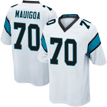 Youth Nike Carolina Panthers Frederick Mauigoa White Jersey - Game