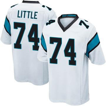 Youth Nike Carolina Panthers Greg Little White Jersey - Game