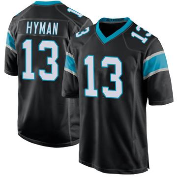 Youth Nike Carolina Panthers Ishmael Hyman Black Team Color Jersey - Game