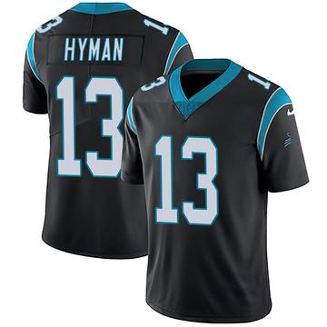 Youth Nike Carolina Panthers Ishmael Hyman Black Team Color Vapor Untouchable Jersey - Limited