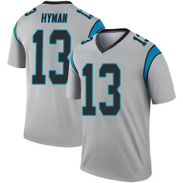 Youth Nike Carolina Panthers Ishmael Hyman Inverted Silver Jersey - Legend