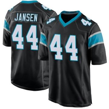 Youth Nike Carolina Panthers J.J. Jansen Black Team Color Jersey - Game