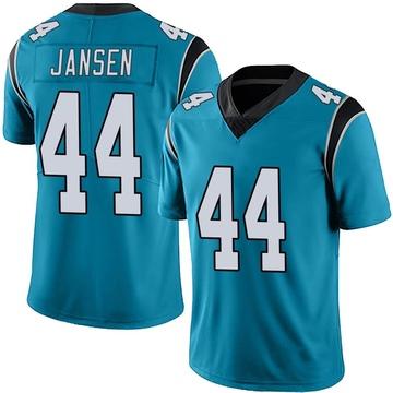 Youth Nike Carolina Panthers J.J. Jansen Blue Alternate Vapor Untouchable Jersey - Limited