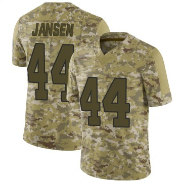 Youth Nike Carolina Panthers J.J. Jansen Camo 2018 Salute to Service Jersey - Limited
