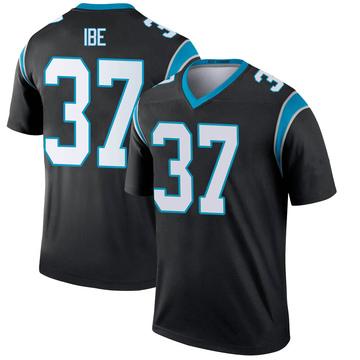 Youth Nike Carolina Panthers J.T. Ibe Black Jersey - Legend