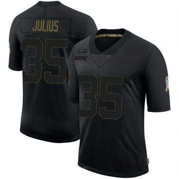 Youth Nike Carolina Panthers Jalen Julius Black 2020 Salute To Service Jersey - Limited