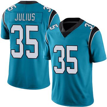 Youth Nike Carolina Panthers Jalen Julius Blue Alternate Vapor Untouchable Jersey - Limited