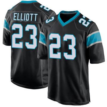 Youth Nike Carolina Panthers Javien Elliott Black Team Color Jersey - Game