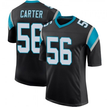 Youth Nike Carolina Panthers Jermaine Carter Black Team Color 100th Vapor Untouchable Jersey - Limited