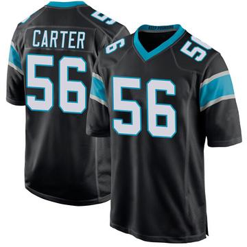 Youth Nike Carolina Panthers Jermaine Carter Black Team Color Jersey - Game