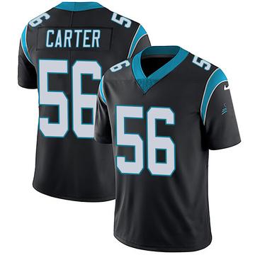 Youth Nike Carolina Panthers Jermaine Carter Black Team Color Vapor Untouchable Jersey - Limited