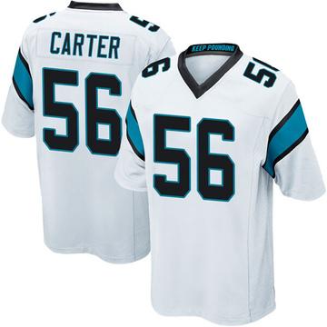 Youth Nike Carolina Panthers Jermaine Carter White Jersey - Game