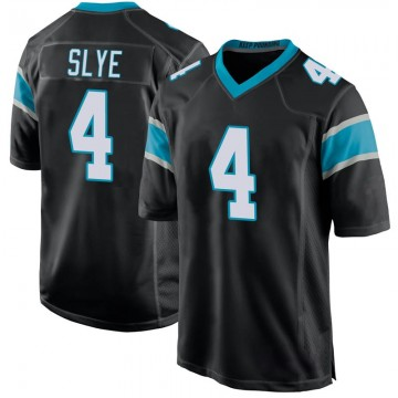 Youth Nike Carolina Panthers Joey Slye Black Team Color Jersey - Game
