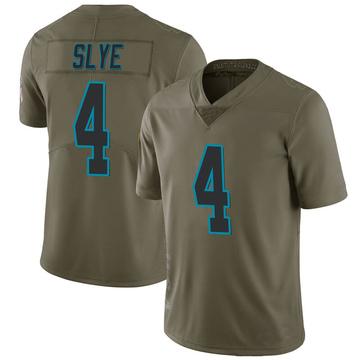 Youth Nike Carolina Panthers Joey Slye Green 2017 Salute to Service Jersey - Limited