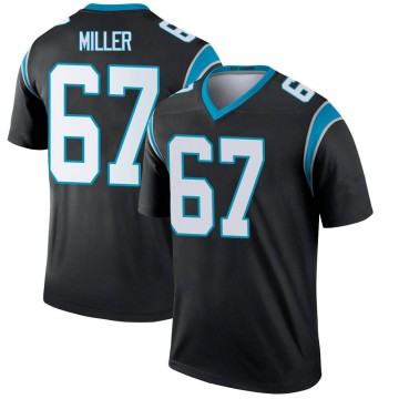 Youth Nike Carolina Panthers John Miller Black Jersey - Legend