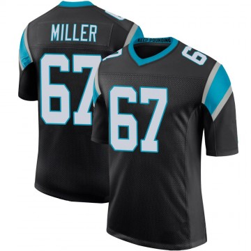 Youth Nike Carolina Panthers John Miller Black Team Color 100th Vapor Untouchable Jersey - Limited