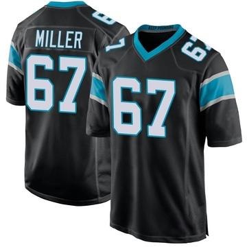 Youth Nike Carolina Panthers John Miller Black Team Color Jersey - Game