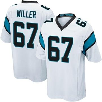 Youth Nike Carolina Panthers John Miller White Jersey - Game