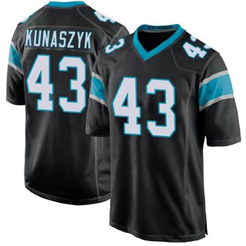 Youth Nike Carolina Panthers Jordan Kunaszyk Black Team Color Jersey - Game