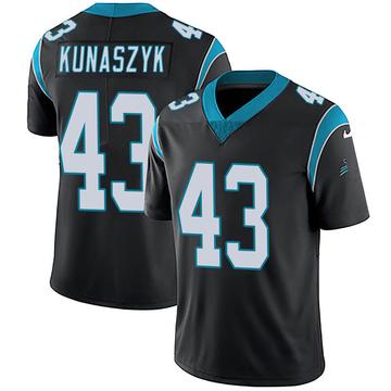 Youth Nike Carolina Panthers Jordan Kunaszyk Black Team Color Vapor Untouchable Jersey - Limited
