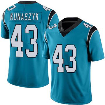 Youth Nike Carolina Panthers Jordan Kunaszyk Blue Alternate Vapor Untouchable Jersey - Limited