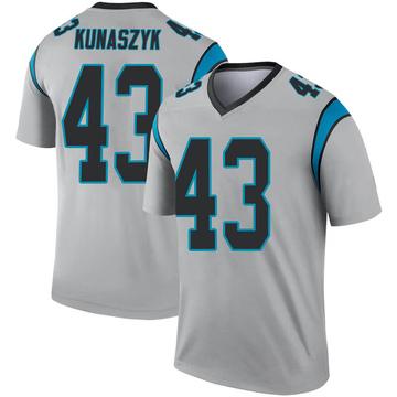 Youth Nike Carolina Panthers Jordan Kunaszyk Inverted Silver Jersey - Legend