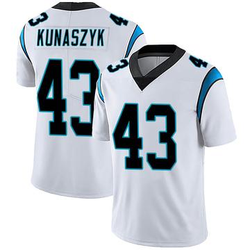 Youth Nike Carolina Panthers Jordan Kunaszyk White Vapor Untouchable Jersey - Limited